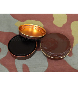 Brown leather shoe military grease from Swiss Army