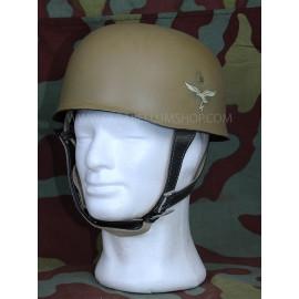 German WW2 paratroopers  M38 helmet in tropical tan camo - Fallschirmjager
