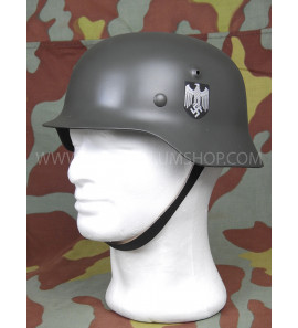 German WW2 steel helmet M40 reproduction with decal - Army -Waffen SS - Luftwaffe - Feldgendarmerie - Stahlhelm M40