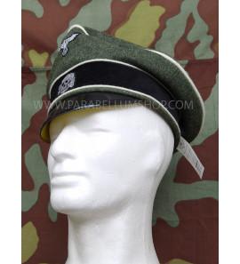 WW2 German Waffen SS Crusher cap Offizierfeldmutze Alterer Art - hard visor - Erel by Robert Lubstein
