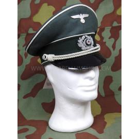 WW2 German Army doeskin wool officer visor cap by Erel of Robert Lubstein made in Germany