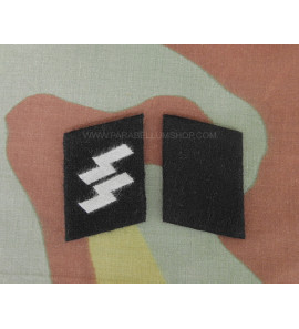 Waffen SS collar tabs troops and graded