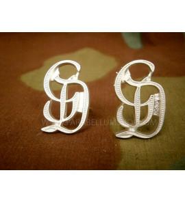 Premium Grossdeutschland GD metal shoulder boards cyphers - Silver