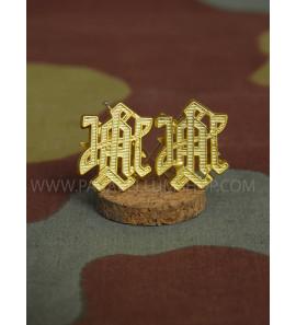 Premium Leibstandarte LAH metal shoulder boards cyphers - Gold