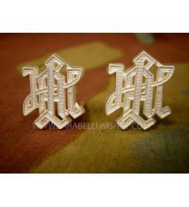 Premium Leibstandarte LAH metal shoulder boards cyphers - Silver