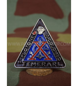 X MAS Pins badge A. Colombo Temerari Italian WW2