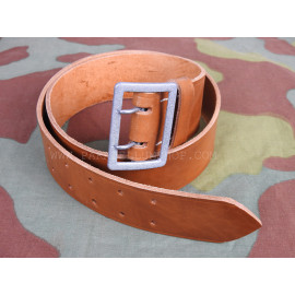 GERMAN OFFICER BROWN LEATHER BELT - MADE IN GERMANY