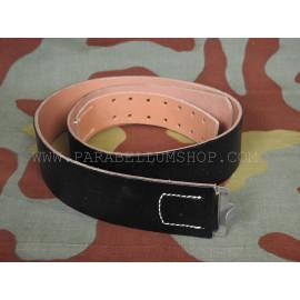 German WW2 black leather belt from original