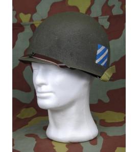 US WW2 3nd Infantry Division Officer M1 helmet refurbished