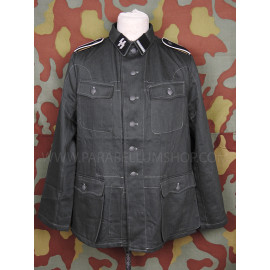 Drillich jacket M42 HBT summer german uniform with insignia Waffen SS