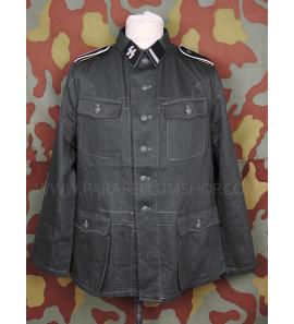 Drillich jacket M42 HBT summer german uniform with insignia Waffen SS