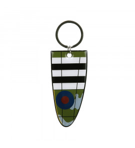Key ring Supermarine Spitfire aluminium wing WW2