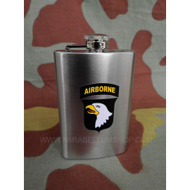 Steel flask 101st Airborne Division US WW2 bottle