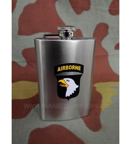 Steel flask 101st Airborne Division US WW2 bottle