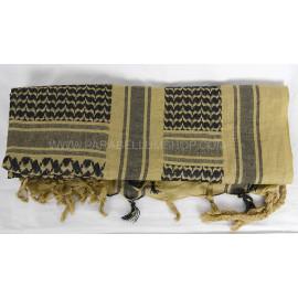 TAN/BLACK SHEMAGH Scarf/shawl kefiah fantasy