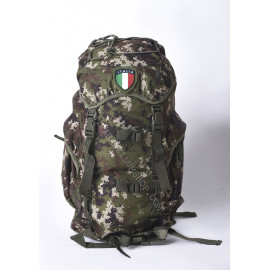 Green rucksack pack with patch 35 LT 50x32x16 camo
