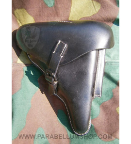 Holster Luger P08 black leather