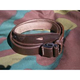 MP40 leather brown sling - Maschinenpistole 40