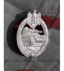 Tank Assault Badge in silver Panzerkampfabzeichen in silber