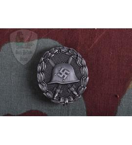 Spanish Wound Badge Silver Verwundetenabzeichen in Schwarz