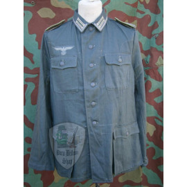 Drillich jacket M42 summer HBT NCO german uniform with insignia