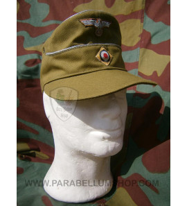 German WW2 tropical M41 officer field cap Wehrmacht - Erel by Robert Lubstein