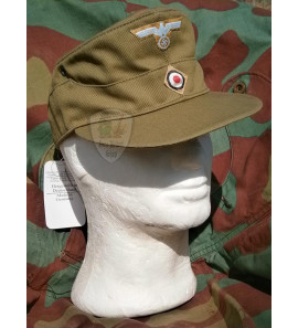 German WW2 tropical M41 field cap Heer - Erel by Robert Lubstein