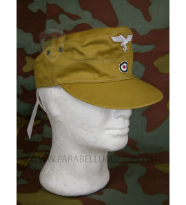 German WW2 tropical M41 field cap Luftwaffe - Erel by Robert Lubstein