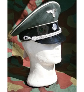 German WW2 Waffen SS officer visor cap - Die Schirmmutze - Erel by Robert Lubstein