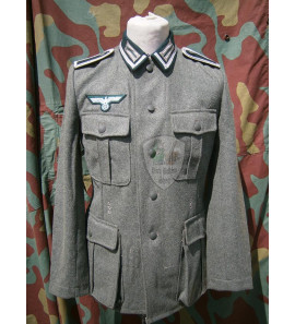 NCO M36 German field tunic with insignia