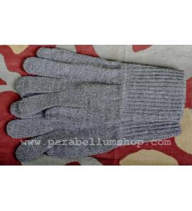 Wool grey gloves