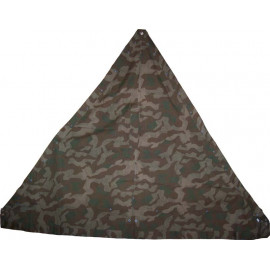 German WW2 camo shelter quarter splinter - Zeltbahn
