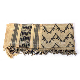 CO/BLACK SHEMAGH Scarf/shawl kefiah Kalashnikov coyote/black