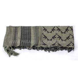OD/BLACK SHEMAGH Scarf/shawl kefiah Kalashnikov