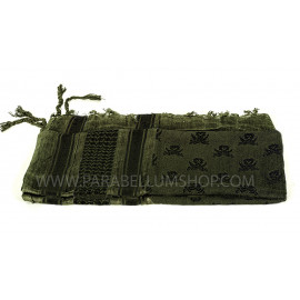 OD/BLACK SHEMAGH Scarf/shawl kefiah SKULL and swords pirate